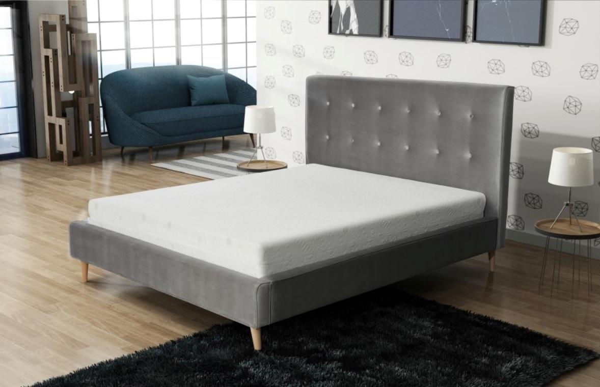 Marisa 140x200 łóżko Tapicerowane Na Wysokich Nóżkach